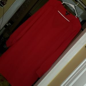 NEW H&M midi red straight dress - long sleeved
